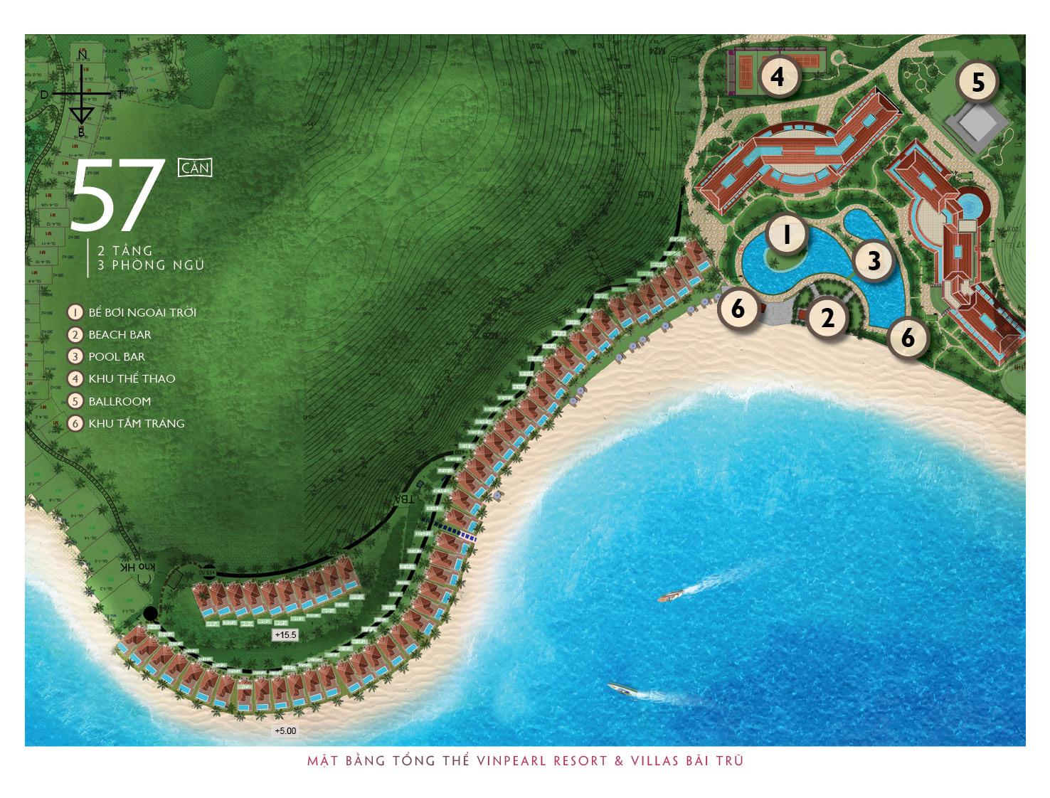Mặt bằng dự án Vinpearl Nha Trang Resort tại Bãi Trũ