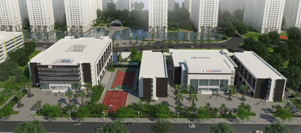 Hệ thống trường học tại dự án Vinhomes D' Capitale Trần Duy Hưng